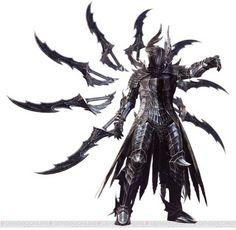 Shintom, Warrior from the Dark - Dark Fantasy - Art Dark Fantasy Art, Foto Fantasy, Fantasy Armor, Fantasy Weapons, Fantasy Sword, Fantasy Character Design, Character Concept, Character Art, Character Design Inspiration