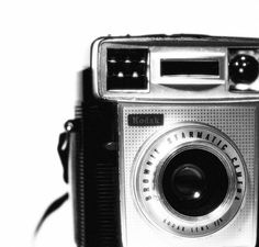 Vintage camera photography home decor black and white by bomobob, $10.00