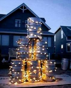 Beer Keg Christmas Decorating. lol funny