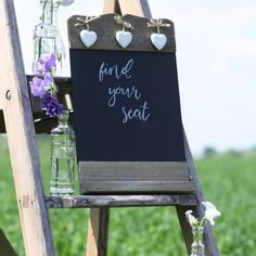 blackboard wedding sign table plan find your seat Wedding Signs, Wedding Table, Rustic Wedding, Our Wedding, Wedding Venues, Blackboard Wedding, Wedding Decorations For Sale, Wooden Tea Light Holder, Wedding In The Woods