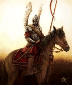 Polish Hussar by MyNameIsByron on DeviantArt Death Tattoo, D D Characters, Chivalry, Modern Warfare, Medieval Fantasy, Larp, Warriors, Knight, Concept Art