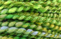 Handspun Yarn Green Plied Super Bulky Yarn LIVE SALAD