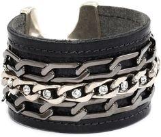 Fashion Jewelry Elegant Shape Dolce & Gabbana Damen Lederarmband Leather Bracelet Silver Neu/new !! Jewelry & Watches
