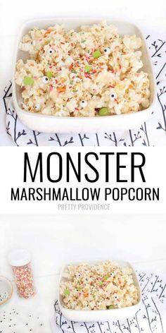 Monster Marshmallow Popcorn! Our favorite easy halloween treat!!
