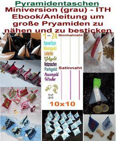 Stickdatei  ♥Pyramidentaschen♥ 10x10 von SewDreams - Nähträume zum Kaufen auf DaWanda.com