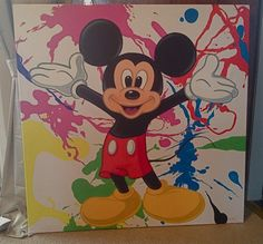 Mickey Mouse Painted Canvas