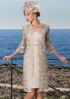 Sonia Pena 1160101 Gold Lace Coat & Dress | McElhinneys Bridal Rooms