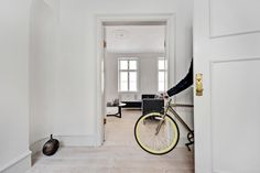 Take the bike anywhere! Also into the hall.
