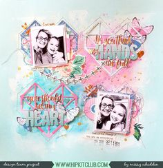 Hip Kit Club DT Project - 2017 February Hip Kits; Crate Paper Maggie Holmes, Pink Paislee Paige Evans Oh My Heart, American Crafts, Shimmerz Paints; cut file by Zinia Amirodou