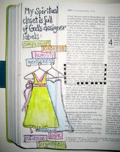 Bible Journaling: God's Designer Label -- I do a good amount of journaling of Bible studies and scripture, but how did I never think about doing it right in my Bible? I even own a bible with wide side margins that is perfect for it. Imagine pulling out your favorite or the most meaningful verses to you, and drawing them right on the page. Talk about bringing the scriptures to life.