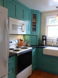 Periwinkle, Kitchen Cabinets, Mint, Cottage, Retro, Home Decor, Periwinkle Blue, Decoration Home, Room Decor