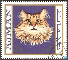 Postage Stamps - Ajman - Cats