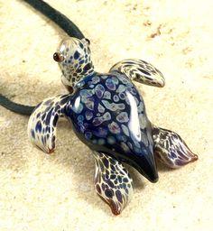 Baby sea turtle necklace glass beads pendant Handmade custom jewelry Lampwork beads Glass flowers Boro beads by RyanJesseeglass on Etsy https://www.etsy.com/listing/577347752/baby-sea-turtle-necklace-glass-beads