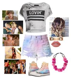 """Live While We're Young ~ One Direction"" by gracet-broadway-baby1 on Polyvore featuring Religion Clothing, Cotton Candy, Converse and Lime Crime"