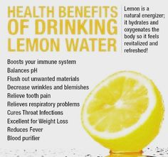 Lemon Water Benefits, Lemon Health Benefits, Lose Weight Naturally, How To Lose Weight Fast, Health Facts, Health Tips, Drinking Lemon Water, Tooth Pain, Bloated Belly