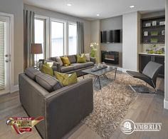 "Ambleside Mansions, ""Edge A"" Home Plan. Kimberley Communities Awards of Excellence Finalist 2015. #buildwithkimberley #kimberleyhomesYEG #luxurytownhome #greatroom http://buildwithkimberley.ca/homes/edge-a-model/"