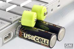 USBCELLはオフィスでUSBから充電できる単3電池