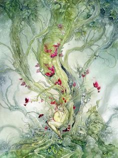 Stephanie Law - watercolor painter, botanical illustrator and artist of fantastical dreamworld imagery. Art And Illustration, Watercolor Illustration, Fantasy Kunst, Fantasy Art, Illustrator, Inspiration Art, Fairy Art, Trolls, Oeuvre D'art