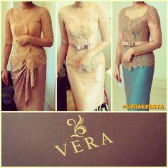 Mix n match colour Vera Kebaya, Kebaya Lace, Kebaya Brokat, Batik Kebaya, Kebaya Dress, Batik Dress, Lace Dress, Traditional Fashion, Traditional Dresses