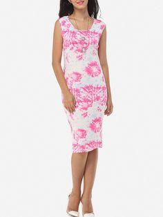 #Fashionmia - #Fashionmia Floral Printed Delightful Round Neck Maxi-dress - AdoreWe.com