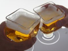 Cubit beer glass designed by #SebastianBergne and produced in collaboration with the #CIAV #Meisenthal #glass