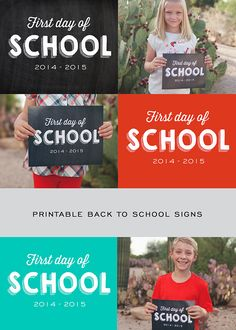 Printable Back to School Photo Signs
