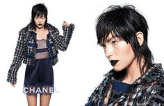Chanel Spring/Summer 2017 Ad Campaign Photos. Photographed By: Karl Lagerfeld. Model: Arizona Muse.  #ChanelDataCenter