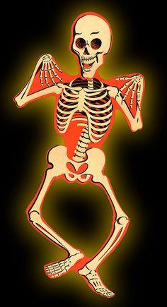 Vintage Skeleton - Large Articulated Diecut by halloween_guy, via Flickr