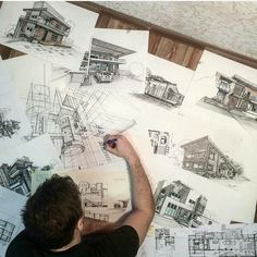 Architecture career, architecture sketchbook, interior sketch, architecture d Architecture Career, Concept Architecture, Architecture Design, Architecture Drawing Sketchbooks, Architecture Sketches, Plakat Design, Interior Sketch, Designs To Draw, Photoshop