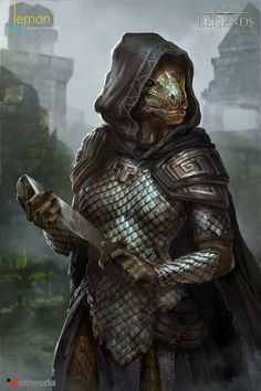 We're proud to announce that we've been working on the card illustration of The Elder Scrolls: Legends, with Bethesda, and sharing some of the amazing visuals we've been producing at ArtStation. Big thanks to the rest of the LemonSky team for The Elder Scrolls, Elder Scrolls Skyrim, Elder Scrolls Online, Dungeons And Dragons Characters, Dnd Characters, Fantasy Characters, Female Characters, Female Dragonborn, Dnd Dragonborn