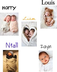 """1D preference-your kids as babies"" by browniebrunie ❤ liked on Polyvore"