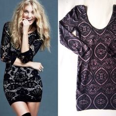 Free People Medallion Bodycon The ultra-cool Medallion bodycon from Free People. Stock photo shows it in black, I have it in purple! Free People Dresses