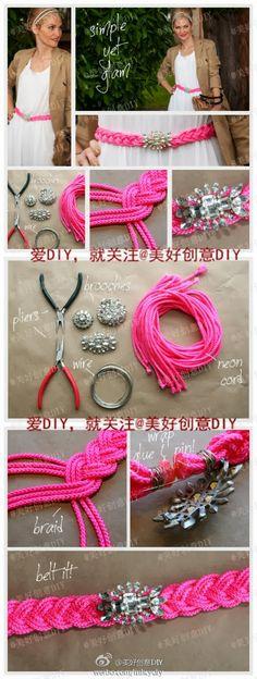 Make a Simple Yet Glam Belt