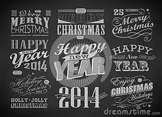 christmas-happy-new-year-typography-labels-calligraphic-elements-decoration-drawing-chalk-blackboard-35216446.jpg (400×290)