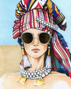 skizzen zeichnen Bella DG by Sunny Gu - - Fashion Illustration Sketches, Fashion Sketches, Drawing Sketches, Art Drawings, Illustration Art, Illustrations, Pop Art Fashion, Fashion Shoot, Bd Art