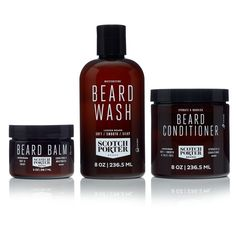 Enjoy exclusive for Scotch Porter - Beard Collection.s Beard Kit Premium Beard Wash, Conditioner, Balm, Smoothing Serum month supply) online - Protophits Men's Grooming, Serum, Scotch, Home Spray, Beard Conditioner, Beard Wash, Beard Styles, 1 Oz, Bearded Men