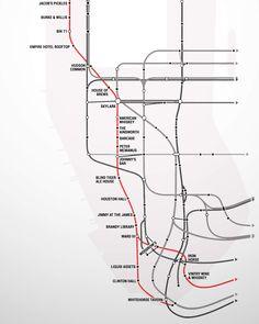 Manhattan's first-ever Subway Bar Map