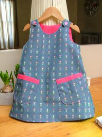 2 tot en met 10 jaar     Dit is echt een eenvoudig kleedje om te maken. Ik geef hier aan de beginnende naaisters een paar inter...