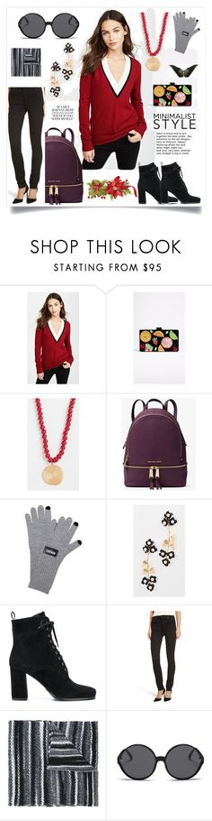 """""""Cashmere Sweater..**"""" by yagna on Polyvore featuring Veronica Beard, Edie Parker, Elizabeth and James, MICHAEL Michael Kors, Kenzo, Jennifer Behr, Carshoe, Citizens of Humanity, Missoni and Linda Farrow"""