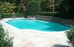 #pool #patio #travertine #brick #GA