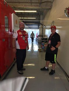 Heading into the garage with Drew