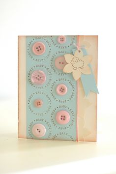 Lovely button card by wida at beacharado; for pencil punch holes in the center of the circles