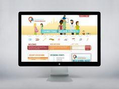 #Webdesign for neighbourhood parents' network