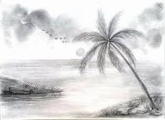 Drawing Of Nature With Boat By Pencil Shading Drawing Scenery . Easy Pencil Drawings, Easy Drawing Images, Scenery Drawing Pencil, Easy Nature Drawings, Pencil Sketches Landscape, Landscape Drawing Easy, Beautiful Pencil Drawings, Pencil Drawings Of Nature, Shading Drawing