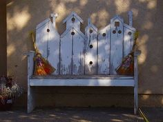 Birdhouse bench!!