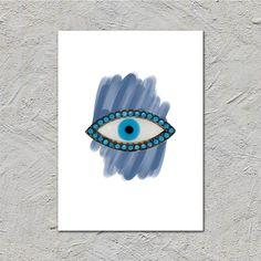 The evil eye The Eye goodluck vibesdigital drawing | Etsy Greek Evil Eye, Classical Antiquity, Greek Culture, Alexander The Great, Evil Eye Charm, Print Store, Good Luck, Home Decor Styles, Printable Art