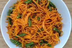 espaguetis de carbassa amb espàrrecs Veggie Recipes, Healthy Recipes, Veggie Food, Healthy Meals, Spaghetti, Japchae, Vegan Vegetarian, Main Dishes, Veggies