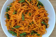 espaguetis de carbassa amb espàrrecs