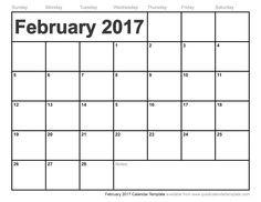Ccc Free Monthly Calendar Printable 2016 February 2017
