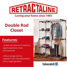 The house, double rod closet from offers you a sturdy option for creating shoe and Use the link below to see more.